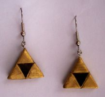 Triforce Earrings by Incandescent-Sea