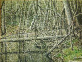 pointillism- woods by Prayselove