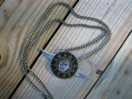 Steampunk Necklace Watch Face Watch Movement With by bcainspirations