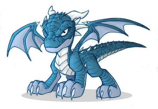 Blue dragon by Averno7