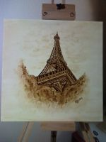 Eiffel tower - coffee paint by LucaDeBoa