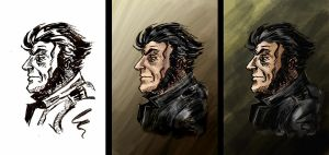 Wolverine Colouring Test by artsytarts