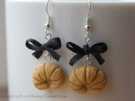 Croissants - earrings by Panna-Kot