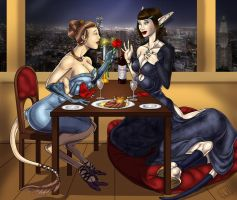A Valentine Surprise   A+B Commission by LillyMoo by somethingelse77