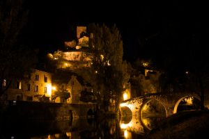 Belcastel by night by Abylone