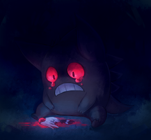 Gengar, the Shadow Pokemon by slurpoof