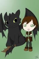 HTTYD: Hiccup and Toothless by SakiRee
