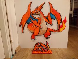 Pokemon #26 - Mega Charizard Y + mini by MagicPearls