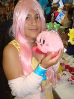 AX 2012 71 - Fluttershy and Kirby by choxie-chan