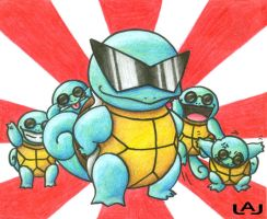 The Squirtle Squad by Red-Flare