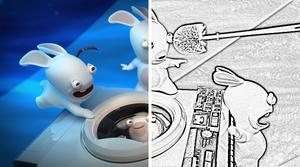 Rabbids - Before and After 1 by naspee