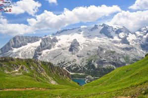 Marmolada glacier in the summer by lailalta