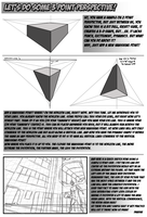 3 Point Perspective Tutorial by dwaynebiddixart