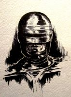 Ink sketch of Robocop by taylorweaved