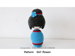 patternGirlFlower-azure by cottonflake