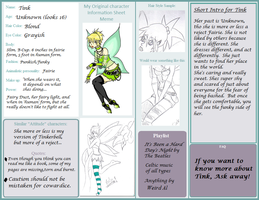 OC Information Sheet-Tink by CalicoWoolfe