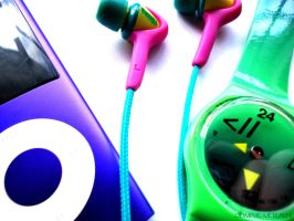 iPod. Skullcandy. Swatch. by Dominic-art