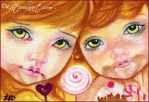 Hansel and Gretel ACEO by Katerina-Art