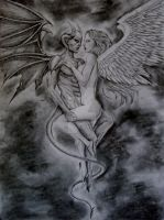Angel and Devil by BringArt1992
