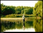 fishman on the lake by dds