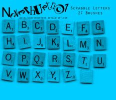 Scrabble Letters Brushes by neverhurtno1