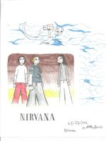 Old Nirvana Drawing - 11-26-2001 by LittleGreenGamer