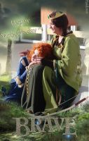 Merida and Elinor ~ by Pandore11