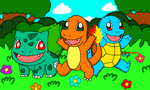 Pokemon Gen 1 Starters by MarioSimpson1