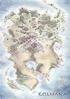Kolmara, fantasy map by LingonB