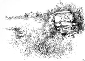 swamp car by gduch