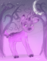 Deer galaxy by HollyBjeam