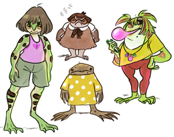 more frog girls! by Spoonfayse
