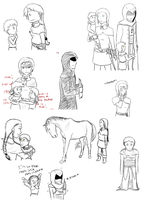 Assassins Creed -sketchdump by Clopina
