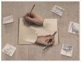 Drawing Hands by DomenLo