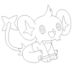 shinx lineart 2 by michy123