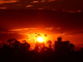 Sunset Silo by OPTILUX
