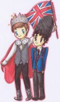 Klaine in England by kawaiisweetie-chan