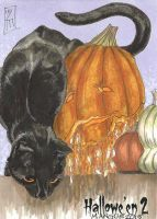 Hallowe'en 2 Sketch Card - Leah Mangue 1 by Pernastudios