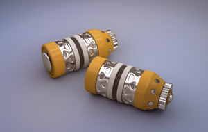 Futuristic Grenade - Mental Ray Render by ImsumDave
