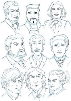 Male Victorian Characters by schattenlos