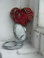 mirror and heart by GothicDark-Stock