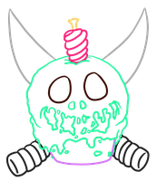 Kill Cupcake_lines by InkBottleInc