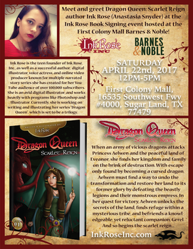 Dragon Queen Book Signing at Barnes and Noble! by InkRose98