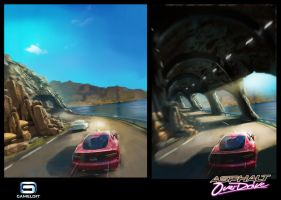 Asphalt Overdrive : Tunnel Coast by Asahisuperdry