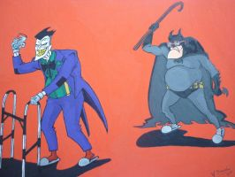 Batman and the Joker by Sabal33