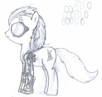 Adam Jensen pony sketch, he never asked for this by R1pperAnthon