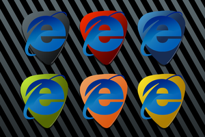 IE Guitar Pick Icons by AskingMyValentine