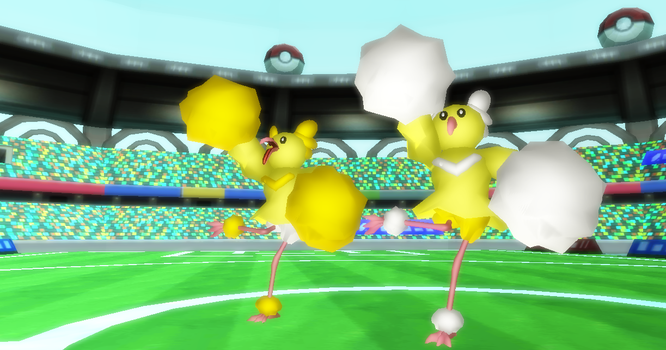 MMD Newcomer Oricorio Pom Pom Style+DL by Valforwing