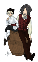 The thief and the doctor colour WIP by Alizarinna