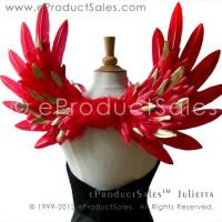JULIETTA Red/Gold mix feather angel wings costume by eProductSales